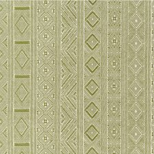 Leaf Green Ethnic Drapery and Upholstery Fabric by Lee Jofa