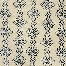 Indigo Ethnic Drapery and Upholstery Fabric by Lee Jofa
