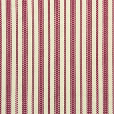 Red Stripes Drapery and Upholstery Fabric by Lee Jofa