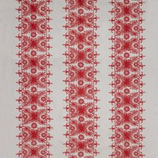 Coral Botanical Drapery and Upholstery Fabric by Lee Jofa