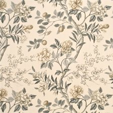 Silver/Grey Botanical Drapery and Upholstery Fabric by G P & J Baker