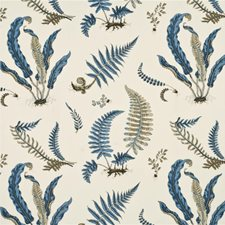 Indigo/White Print Drapery and Upholstery Fabric by G P & J Baker