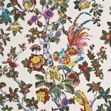 Original/Multi Animal Drapery and Upholstery Fabric by G P & J Baker