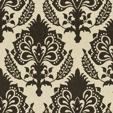 Onyx Damask Drapery and Upholstery Fabric by G P & J Baker