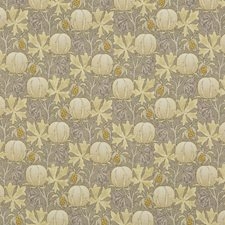 Grey/Ochre Print Drapery and Upholstery Fabric by G P & J Baker