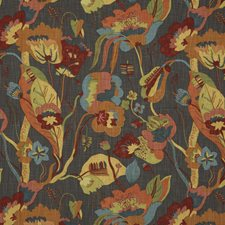 Spice/Charcoal Drapery and Upholstery Fabric by G P & J Baker