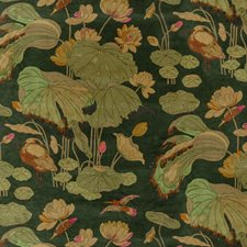 Emerald Botanical Drapery and Upholstery Fabric by G P & J Baker