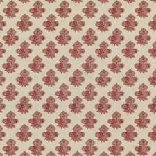 Red Botanical Drapery and Upholstery Fabric by G P & J Baker