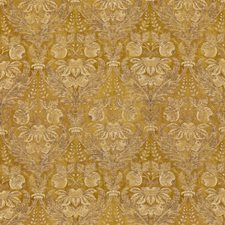 Ochre Damask Drapery and Upholstery Fabric by G P & J Baker