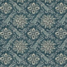 Blue Paisley Drapery and Upholstery Fabric by G P & J Baker