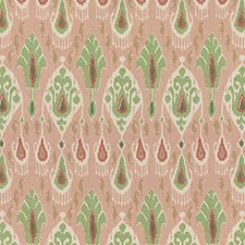 Rose/Green Ethnic Drapery and Upholstery Fabric by G P & J Baker