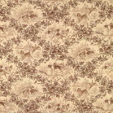 Tobacco Animal Drapery and Upholstery Fabric by Brunschwig & Fils