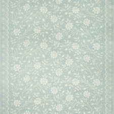 Aqua Print Drapery and Upholstery Fabric by Brunschwig & Fils