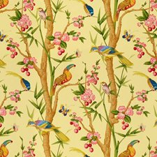 Jaune Print Drapery and Upholstery Fabric by Brunschwig & Fils