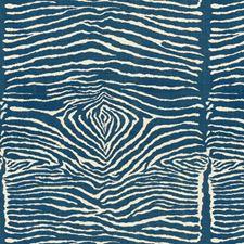 Indigo Animal Skins Drapery and Upholstery Fabric by Brunschwig & Fils
