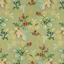 Jade Botanical Drapery and Upholstery Fabric by Brunschwig & Fils