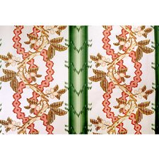 Cypress and Coral Botanical Drapery and Upholstery Fabric by Brunschwig & Fils