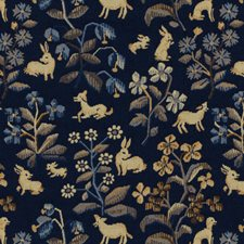 Blue Tapestry Drapery and Upholstery Fabric by Brunschwig & Fils
