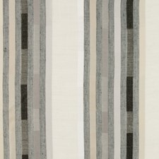 Greige Stripes Drapery and Upholstery Fabric by Brunschwig & Fils