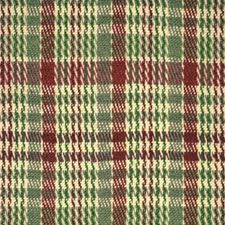 Berry/Cream/Jade Plaid Drapery and Upholstery Fabric by Brunschwig & Fils
