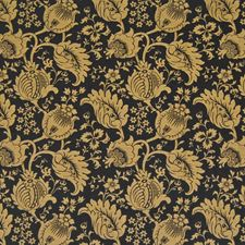Black Gold Drapery and Upholstery Fabric by Kasmir