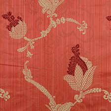 Maroon/Linen On Red Drapery and Upholstery Fabric by Scalamandre