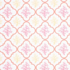 Coral Sunshine Drapery and Upholstery Fabric by RM Coco