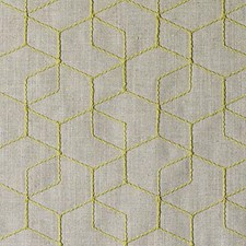 Citron Embroidery Drapery and Upholstery Fabric by Duralee