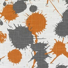 Orange Abstract Drapery and Upholstery Fabric by Duralee