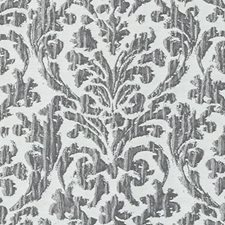 Gunmetal Damask Drapery and Upholstery Fabric by Duralee