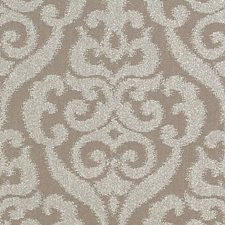 Pewter Damask Drapery and Upholstery Fabric by Duralee