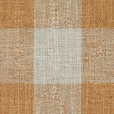 Orange Plaid Drapery and Upholstery Fabric by Duralee