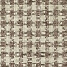 Natural/Brown Plaid Drapery and Upholstery Fabric by Duralee