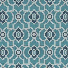Lapis Geometric Drapery and Upholstery Fabric by Duralee