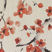Garnet Botanical Drapery and Upholstery Fabric by Duralee