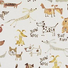 Natural/Russett Animal Drapery and Upholstery Fabric by Duralee