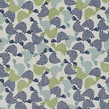 Blue/Avocado Animal Drapery and Upholstery Fabric by Duralee