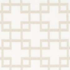 Ecru Geometric Drapery and Upholstery Fabric by Duralee