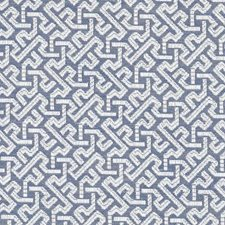 Blue Geometric Drapery and Upholstery Fabric by Duralee