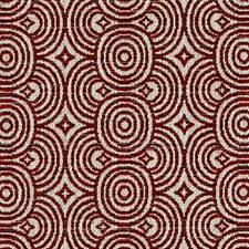 Poppy Red Diamond Drapery and Upholstery Fabric by Duralee