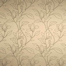 Silver Botanical Drapery and Upholstery Fabric by Threads