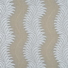 Champagne Botanical Drapery and Upholstery Fabric by Threads