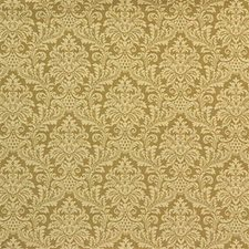 Yellow Damask Drapery and Upholstery Fabric by Kravet