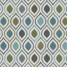 Blue/Teal Ogee Drapery and Upholstery Fabric by JF