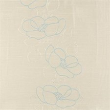 Duckegg Floral Medium Drapery and Upholstery Fabric by Clarke & Clarke