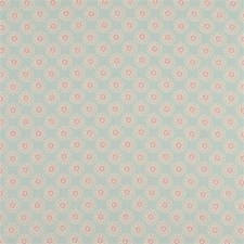 Duckegg Floral Small Drapery and Upholstery Fabric by Clarke & Clarke