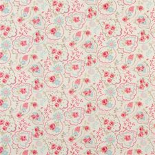Pink Floral Medium Drapery and Upholstery Fabric by Clarke & Clarke