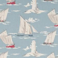 Marine Drapery and Upholstery Fabric by Clarke & Clarke