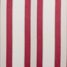Red Stripe Drapery and Upholstery Fabric by Clarke & Clarke