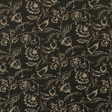 Charcoal Floral Medium Drapery and Upholstery Fabric by Clarke & Clarke